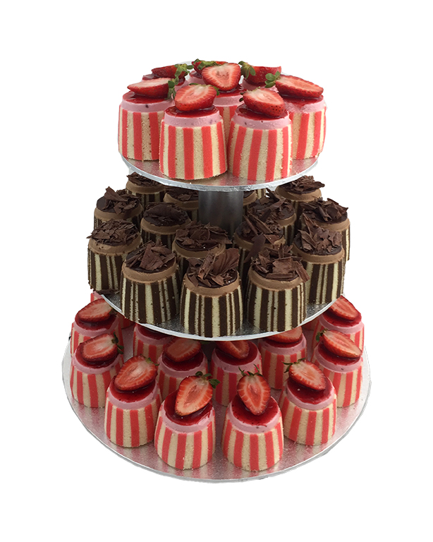 COCKTAIL GATEAUX (75 of) with 3 tier stand