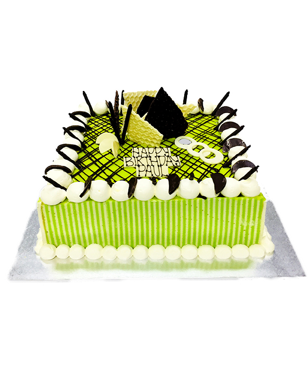 "Lemon and Lime Mousse 15"" (40cm) square"