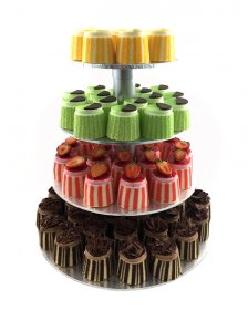 COCKTAIL GATEAUX (100 of) with 4 tier stand