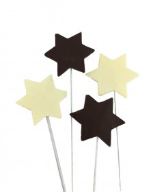 Chocolate Star on wire