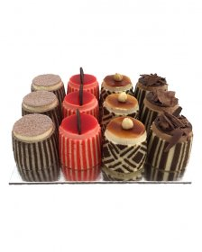 COCKTAIL GATEAUX Boxed 12 (click MORE DETAILS to choose your flavours)