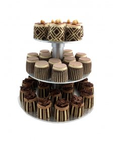 COCKTAIL GATEAUX (50 of) with 3 tier stand